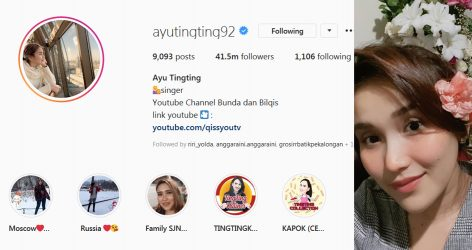 Instagram Ayu Tingting photos and videos